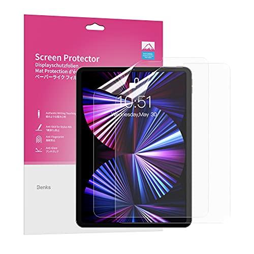 Paper Feel Schutzfolie für iPad Pro 11 (2018, 2020 und 2021) und iPad air 4 10,9 2020 Matt Displayschutzfolie, Kompatibel mit Zum Zeichnen, Schreiben und Notizen Machen - 2 Stück