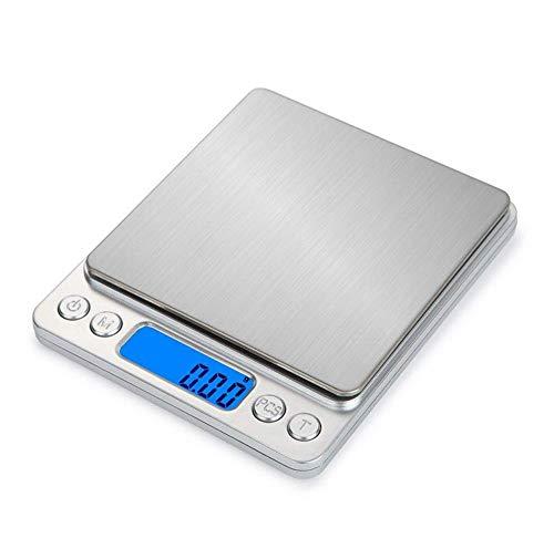 Báscula digital de cocina multifunción para alimentos, precisión de peso de 0,01 g y máx. 1,1 lb 500 g
