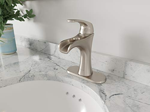 "Pfister LF042JDKK Jaida Single Control 4"" Centerset Bathroom Faucet in Brushed Nickel, Water-Efficient Model"