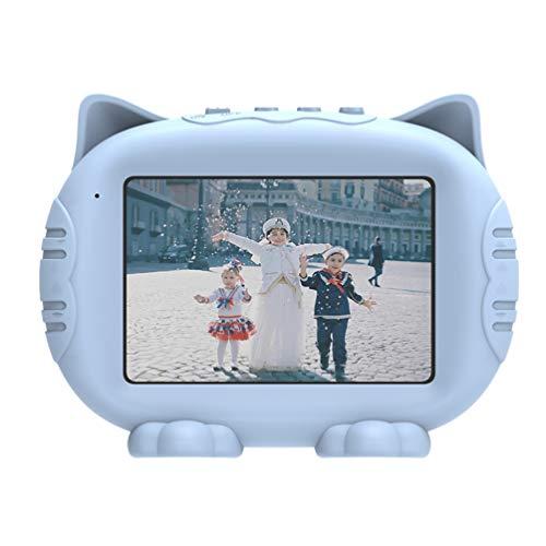 NUOBESTY Moldura digital HD de 3,5 polegadas com despertador MP3 para crianças sem cartão SD (azul)