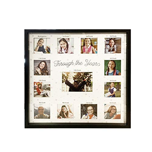 PRINZ 2020 Through The Years 13-Photo Opening Graduation Collage Picture Frame, White