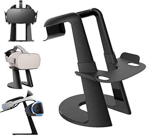 Senmubery Vr Stand, Virtual Reality Headset Display Holder For All - Vive, Psvr, Rift, Go, Daydream, Gear Vr And Merge Vr/Ar