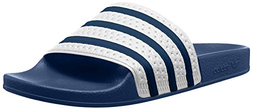 adidas adidas Originals ADILETTE G16220, Unisex - Erwachsene Bade Sandalen, Blau (ADIBLUE / WHITE / ADIBLUE),46 EU (11 UK)