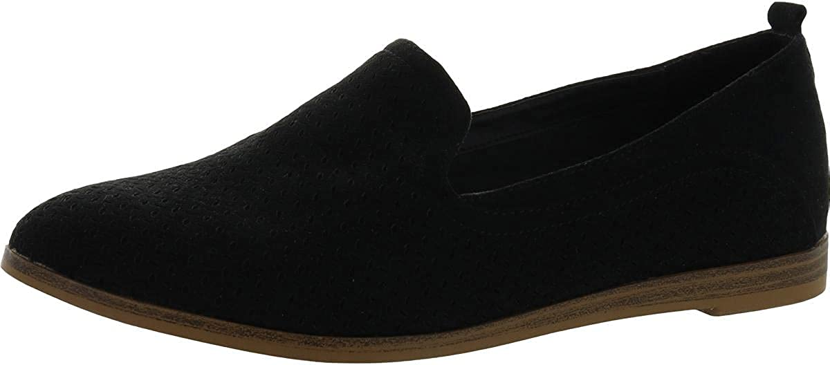 MIA Womens Ethan Faux Suede Slip On Loafers