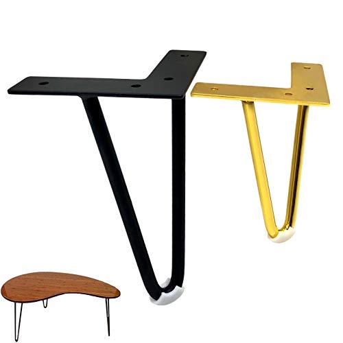 DIYH 4 Pack Piernas para Muebles Metal 12cm 15cm, Patas Mesa Hairpin...