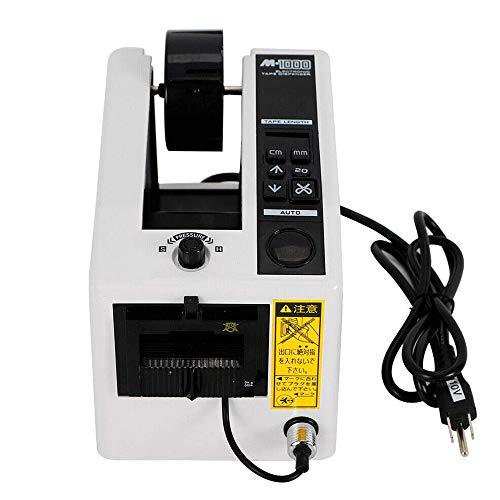 H HUKOER Dispensador de cinta automático M-1000 Cortador de corte adhesivo de cinta para microordenador 7-50CM Dispensador de cinta de embalaje de ajuste de longitud para cinta