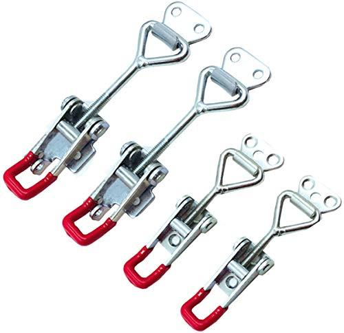 Liuer 4pcs Abrazadera de palanca Pestillo, Del lanzamiento rápido del metal Capacidad...