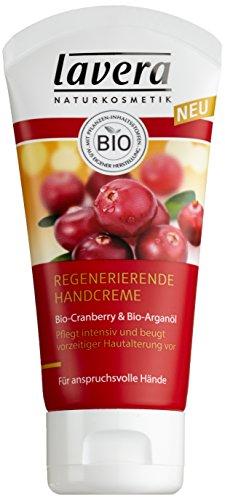 lavera  Regenerierende Handcreme  - schnell einziehende Hand Creme, vegan 4er Pack (1 x 50 ml)