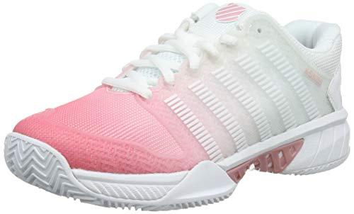 K-Swiss Performance Damen Hypercourt Express HB Tennisschuhe, Weiß (White/Pink Lemonade/Coral Blush 176M), 36 EU