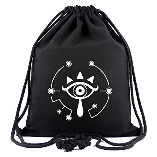 WANHONGYUE The Legend of Zelda Game Sporttasche Turnbeutel Training Tasche Gym Sack Drawstring Bag Schwarz-1