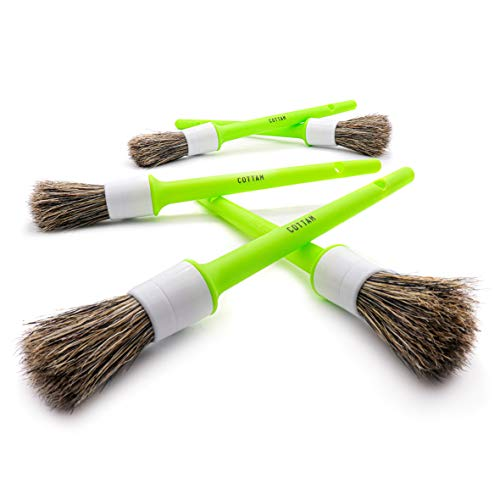 Cottam PSA00018 Valet-Set di pennelli per Dettagli, Verde, 1,9 cm