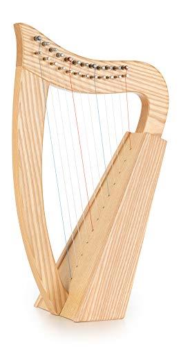 Classic Cantabile Keltische Harfe - Kompakte Celtic Harp aus Buchenholz - 12 Saiten - In C-Dur gestimmt - Inklusive Tasche, 2 Stimmschlüssel und Ersatzsaiten - Höhe: 51 cm