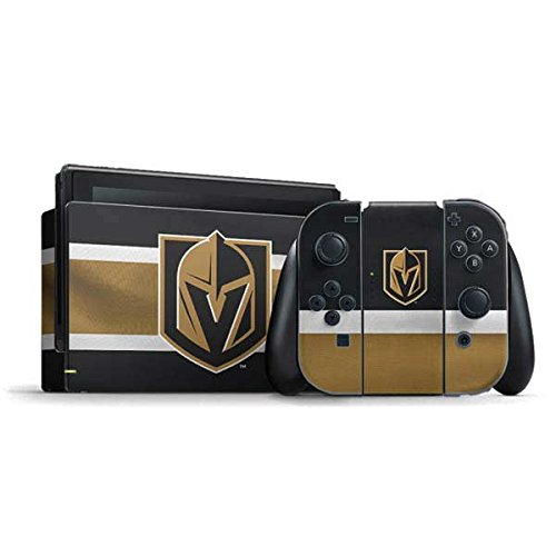 Skinit Decal Gaming Skin Compatible with Nintendo Switch Bundle - Officially Licensed NHL Vegas Golden Knights Jersey Design
