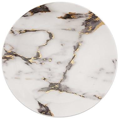 Prouna Marble Venice Fog Canape Plates, Set of 4