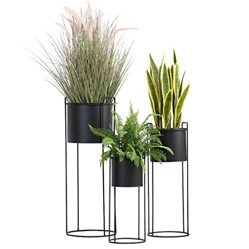 Support pour Fleurs Support pour étagère Pot pour étagère de Rangement Fer/Salon Balcon et Support pour Plante en Plein air pour extérieur Cadre en métal Présentoir pour bonsaï Palier 3 Taille Noir