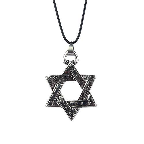 Nordische Mythologie Legierung Hexagramm Halskette Herren Piraten Leder Seil Ornament Weihnachtsgeschenk