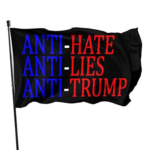 Juhucc Anti-Hate Anti-Lies Anti-Trump Flag Outdoor Flag Home Garden Flag Banner Breeze Flag American Flag Decorative Flag 3x5 Ft