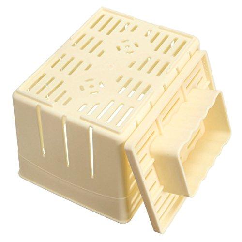 Luwu-Store Bricolage Fabrication Artisanale Tofu Press-Maker Boîte à moules en Plastique Machine à fabriquer du caillé de soja Cuisine Outils Pratiques