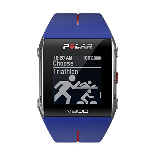 Polar V800 GPS Sports Watch, Blue, Heart Rate