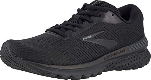 Brooks Men's Adrenaline GTS 20, Black/Black, 11 D US