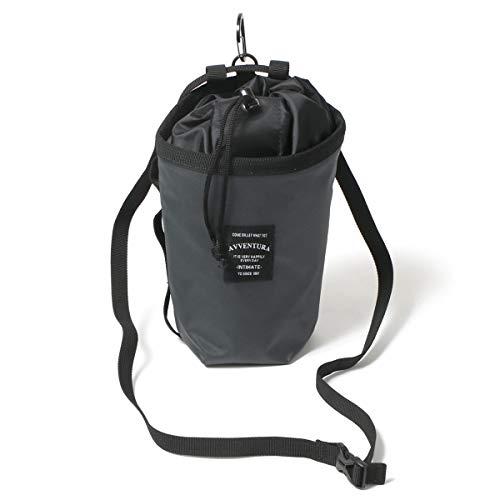 メール便 AVVENTURA アヴェンチュラ チョークバッグ ボルダリング ショルダーバッグ 巾着式 ウエストバッグ クライミング 撥水 グレー F