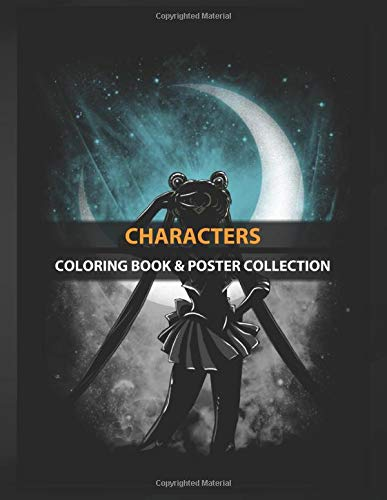 Coloring Book & Poster Collection: Characters Usagi Under The Moon Anime & Manga
