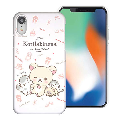 Compatible with iPhone Xs Max Case [Slim Fit] Rilakkuma Thin Hard Matte Surface Excellent Grip Cover - Korilakkuma Cat