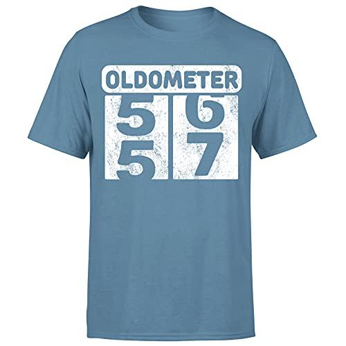 Milestone Birthday Oldometer odómetro torneando 57 años regalo para hombre camiseta regalo para él