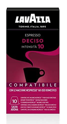 Lavazza 100 Capsule Compatibili Nespresso, Espresso Deciso, 10 Confezioni da 10 Capsule