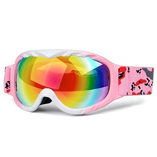 Gafas de Sol Gafas esféricas de esquí de Doble Capa antivaho for niños protección para los Ojos (Color : D)