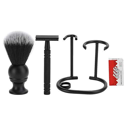 Luxus Rasierset Rasierpinsel Rasiermesser Rasierständer Rasierklinge Herren Rasierset Ideal für die Pflege von Schnurrbärten, traditionelle Rasier Friseursalon Home Körperpflege-Tool
