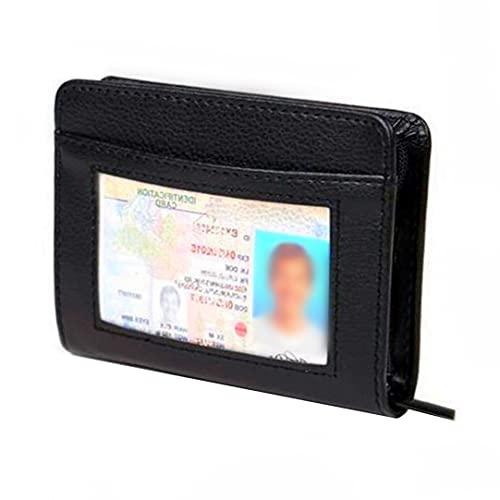 36 Slots Credit Card Holder Wallet Zip Leather Card Case RFID Blocking