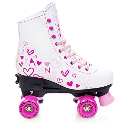 RAVEN Rollschuhe Roller Skates Trista White/Pink 31-34 (20cm-21,5cm)