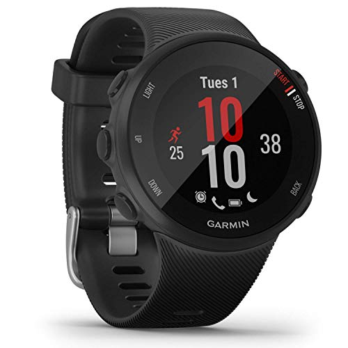 Garmin Forerunner 45S – GPS-Laufuhr im schlanken Design mit umfangreichen Lauffunktionen, Trainingsplänen, Herzfrequenzmessung am Handgelenk, für schlanke Handgelenke, (Generalüberholt)