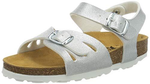 Lico Bioline Sandal Mädchen Pantoletten, Silber, 32 EU