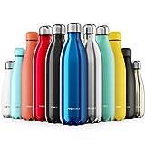 Proworks Bottiglia Acqua in Acciaio Inox, Senza BPA Vuoto Isolato Borraccia Termica in Metallo per Bevande Calde per 12 Ore & Fredde 24 Ore, Borraccia per Sport, Lavoro e Palestra - 500ml - Blu