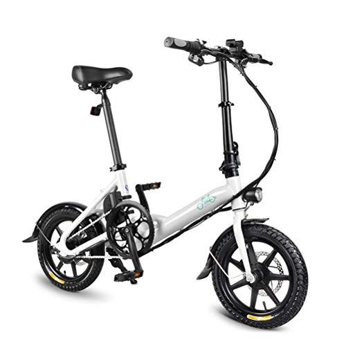 YEKKU Plegable EBike, FIIDO D3 Bicicleta eléctrica 250W 14 Bicicleta eléctrica con...