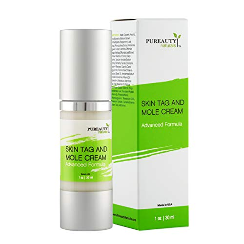 Skin Tag Mole and Wart Cream Advanced Formula Vegan Friendly Natural Ingredients, Nourishing Moisturizer Remover Removal for Healthy Complexion By Pureauty Naturals (Packaging 1)