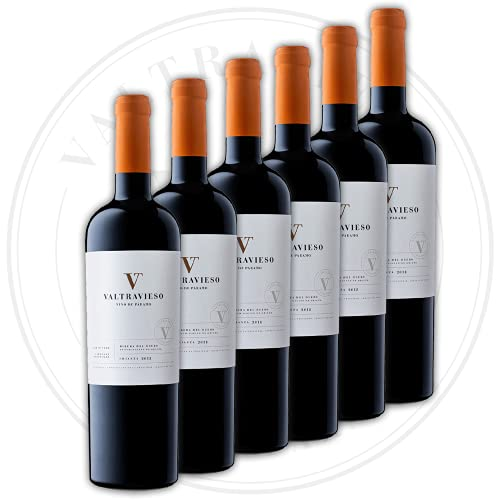 Crianza - Vino Tinto Ribera del Duero Denominación de Origen/Vino de Páramo | Tinto Fino (99%) y Cabernet Sauvignon (1%)| Pack Lote de 6 Botellas x 750 ml