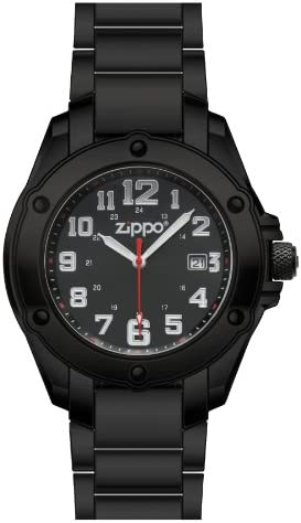 Zippo Black Dial Dress Watch with Black Solid Stainless Steel Band product image