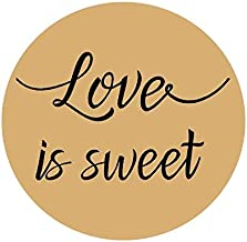 Valentine's Stickers,96PCS Love is Sweet Stickers Labels Wedding Favor Labels, Wedding Treat Stickers,Anniversary Stickers