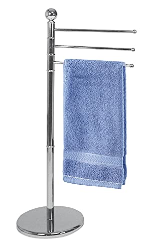 Wenko Exclusive Towel and Clothes Stand Chrome-3 Flexible arms, Steel,...