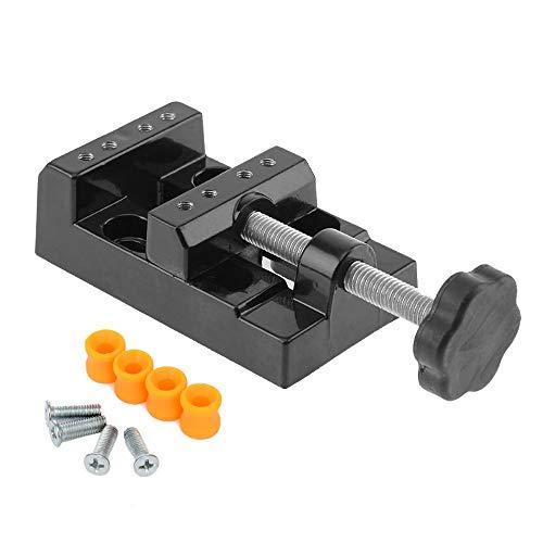 Mesee Mini-Schraubstock aus Walnussholz, Universal-Bohrmaschine, Tischschraubstock für Schmuck, Nuklear-Uhren zum Anklemmen, Basteln, Skulptur, Schnitzwerkzeug