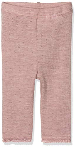 NAME IT Baby-Mädchen NBFWANG Wool Needle NOOS Leggings, Rosa (Woodrose Detail:Solid), 68