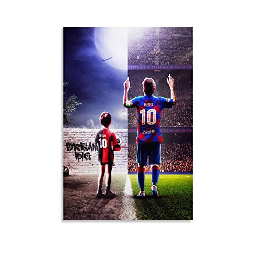 LKJIU Messi Big Poster Cuadro decorativo Lienzo Arte Pared Salón Póster Dormitorio Pinturas 20x30 cm