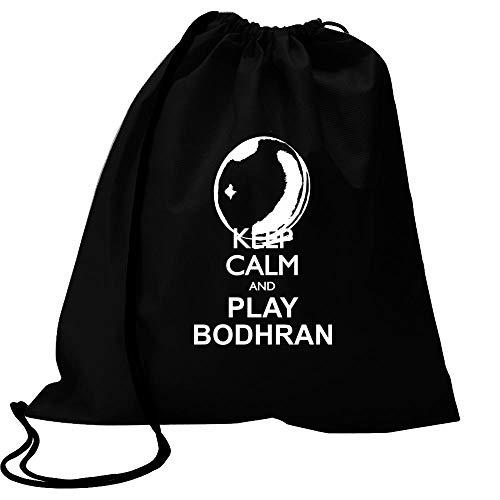 Idakoos Keep Calm and Play Bodhran - Silhouette Sport Bag