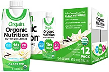 12-Count Orgain Vanilla Bean Organic Nutritional Shake, 11 Ounce