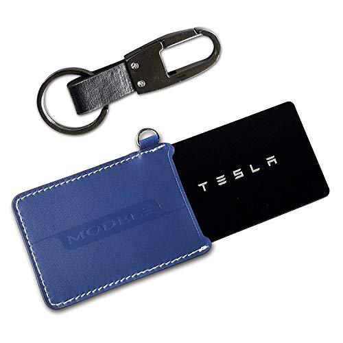 BMZX - Juego de llaveros para Tesla Modelo 3, Azul