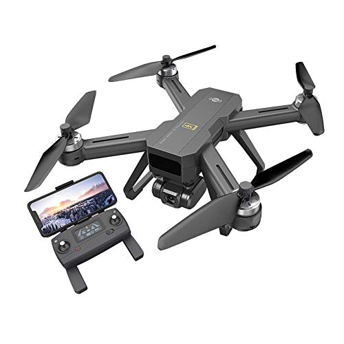 Jiujiuwanli B20 EIS GPS Drohne 4K Gimbal Kamera und HD-Videoübertragung, Quadrocopter Ferngesteuert mit 2 Akkus Lange Flugzeit,Follow Me, Höhehalten, Handy gesteuert Geeignet für Anfänger(schwarz)