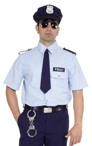 Orlob Polizei Hemd blau Herren Kostüm Polizist Karneval Fasching Gr.50/52